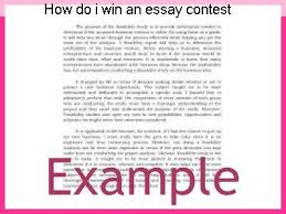 HOW TO WINN ESSAY COMPETITION EXAMPLE
